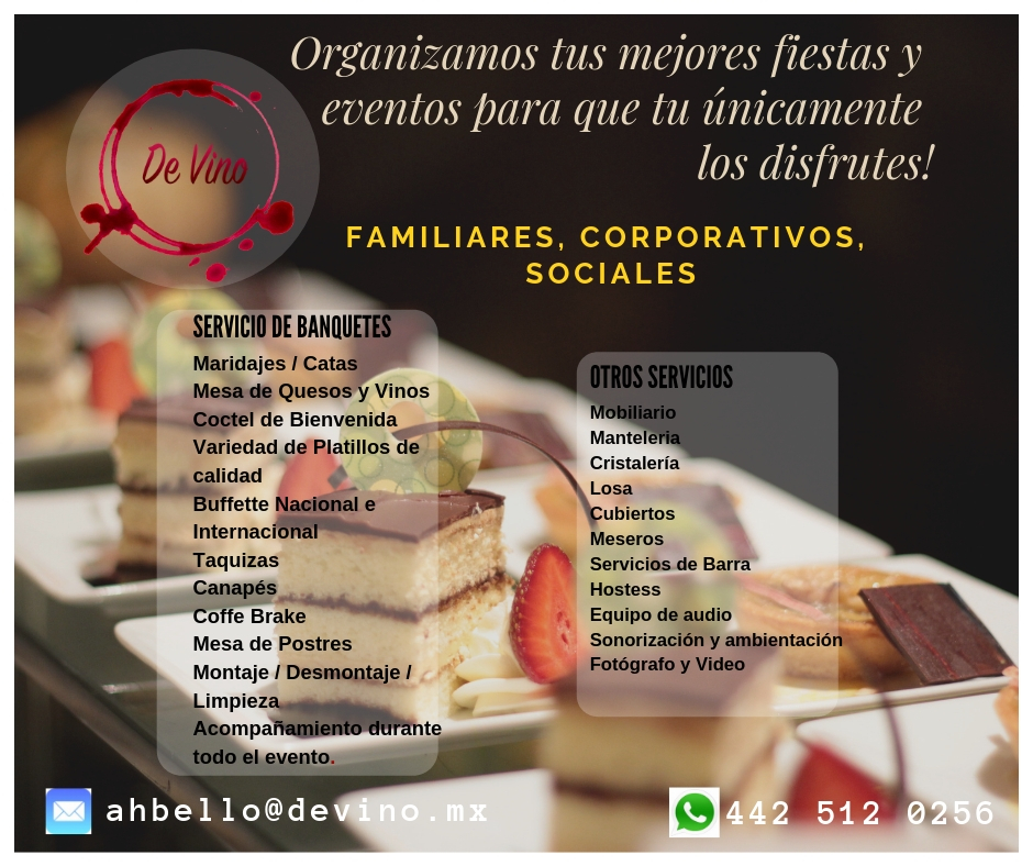 ORGANIZAMOS TU EVENTO CORPORATIVO, SOCIAL O FAMILIAR!