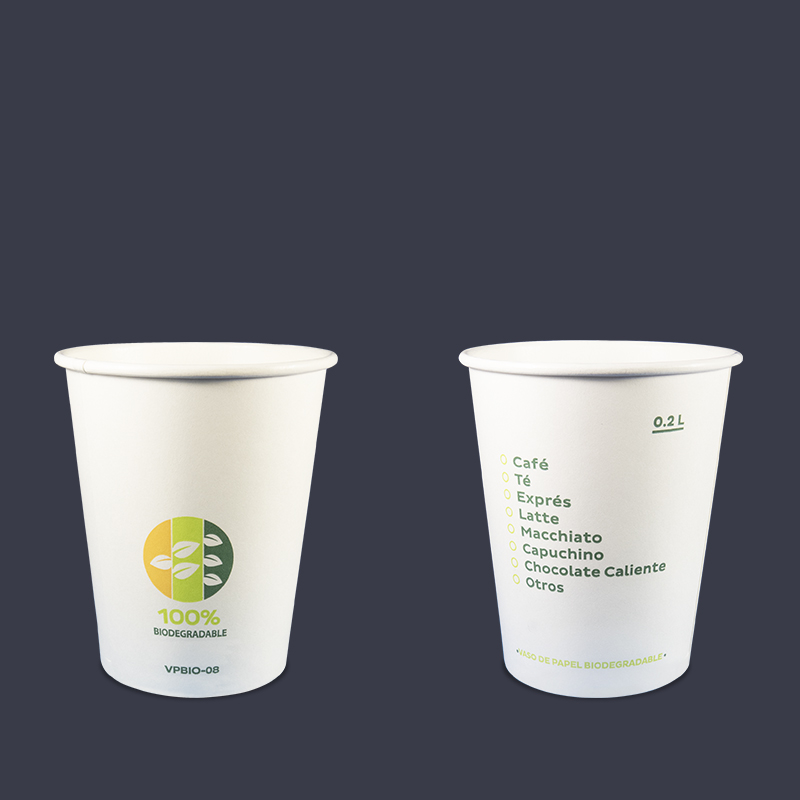 VASO BIODEGRADABLE 8 OZ INIX C/50 VASOS
